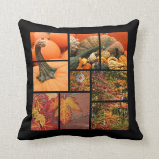 Fall Leaves and Pumpkins Cushion