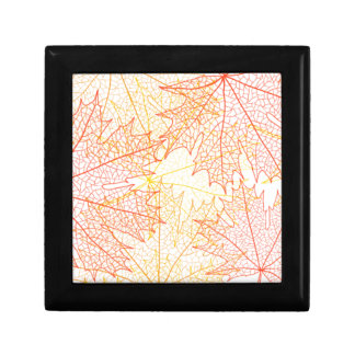 Fall Leaves Autumn Drawing Small Square Gift Box
