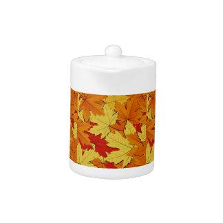 Fall Leaves Autumn Themed Teapot