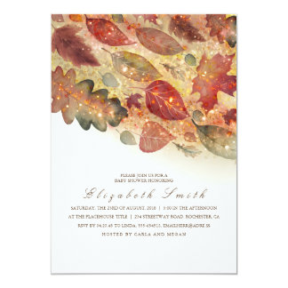 Fall Leaves Baby Shower Card