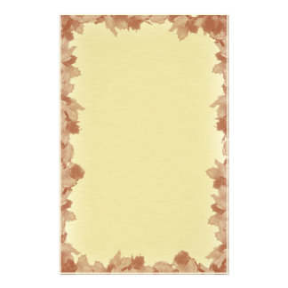 Fall Leaves Background Stationery