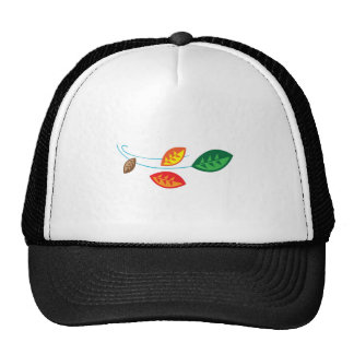 FALL LEAVES BLOWING MESH HATS