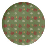 Fall Leaves - Celebrate Halloween, Thanksgiving Party Plates