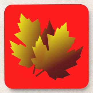 Fall Leaves Cork Coaster