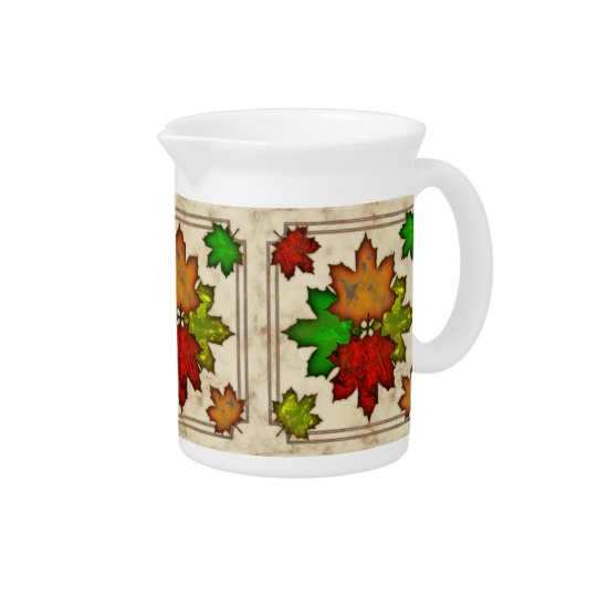 Fall Leaves Drink Pitcher