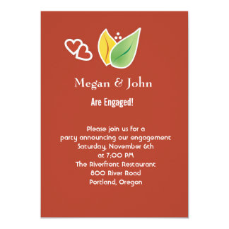 Fall Leaves Engagement Party Invitation