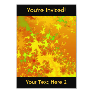 Fall Leaves Fractal. Abstract Art. Card
