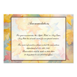 Fall Leaves Gay Wedding Insert Announcement