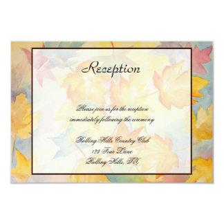 Fall Leaves Gay Wedding Reception Card