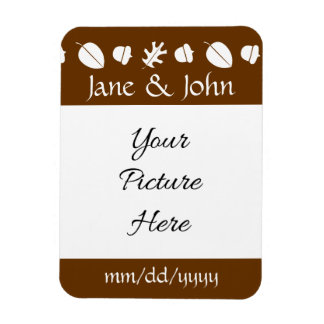 Fall Leaves in Chocolate Save-the-Date Magnet