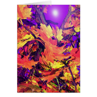 Fall Leaves in Motion Card