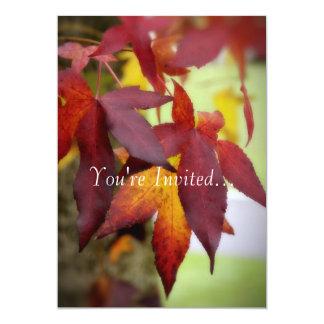 Fall Leaves...Invitation Card