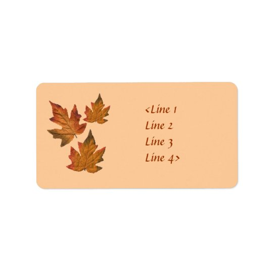 Fall Leaves Label