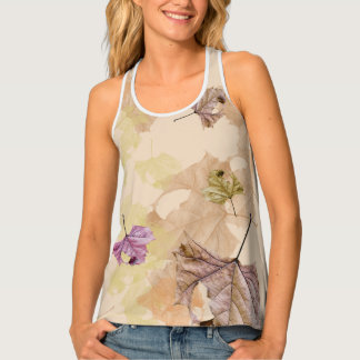 """fall leaves"" LADIES' TANK Tank Top"