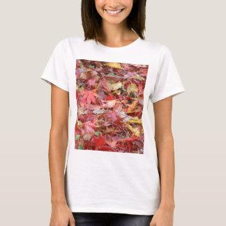 Fall Leaves Ladies White T-Shirt