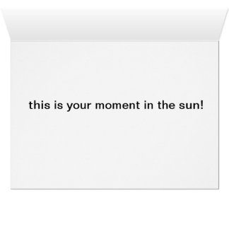 fall leaves lit by the sun greeting card
