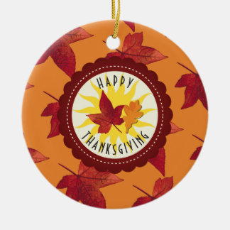 Fall Leaves Maple Thanksgiving Christmas Ornament