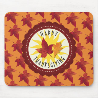 Fall Leaves Maple Thanksgiving Mouse Mat