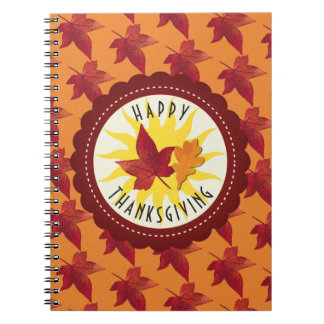 Fall Leaves Maple Thanksgiving Notebook