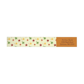 Fall Leaves: Multi-colored Return Address Labels