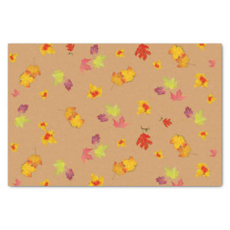 Fall Leaves Nature Pattern Tissue Paper