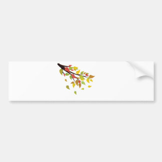 Fall Leaves on Branch Bumper Sticker