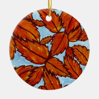 Fall leaves ornament