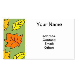 Fall Leaves Pack Of Standard Business Cards