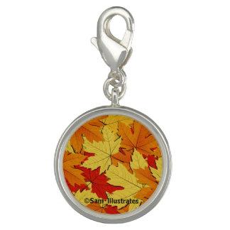 Fall Leaves Pattern Charm Bracelet Charm
