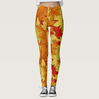 Fall Leaves Pattern Women's Leggings