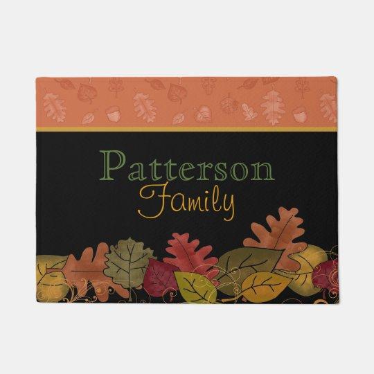 Fall Leaves Personalised Door Mat