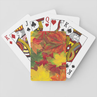 Fall leaves playing cards