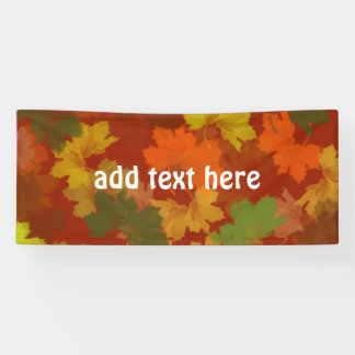 Fall Leaves - Red Background