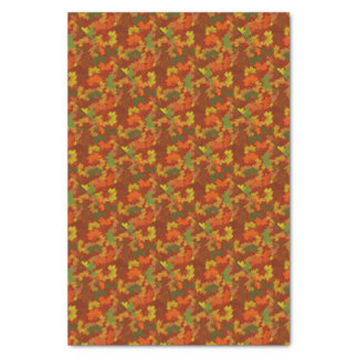 Fall Leaves - Red Background Tissue Paper