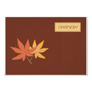 Fall Leaves RSVP Card 9 Cm X 13 Cm Invitation Card