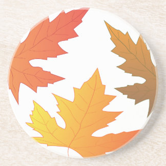 Fall Leaves Sandstone Coaster
