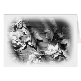 Fall Leaves Saying Sympathy Card