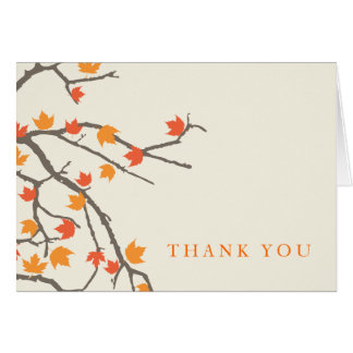 Fall Leaves Thank You Card