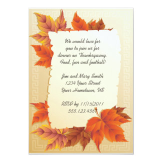 Fall Leaves Thanksgiving Invitation
