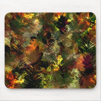 Fall Leaves Watercolour Mousepad