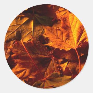 Fall Leaves Wedding Invitation Custom Seal Sticker