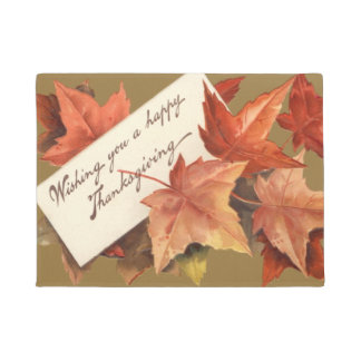 Fall Leaves Wishing You A Happy Thanksgiving Doormat