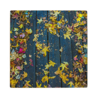 Fall Leaves Wood Coaster