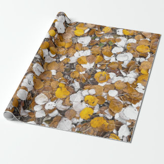 Fall leaves wrapping paper