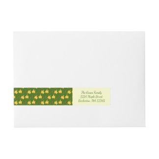Fall Leaves: Yellow Leaf, Return Address Label Wraparound Address Label
