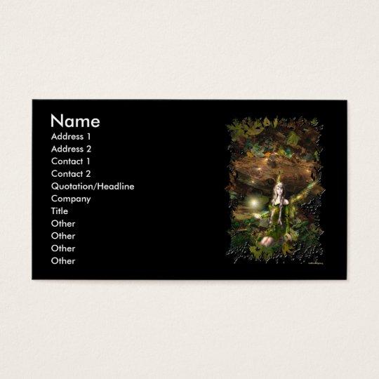 Fall Magic Fairy Business Cards