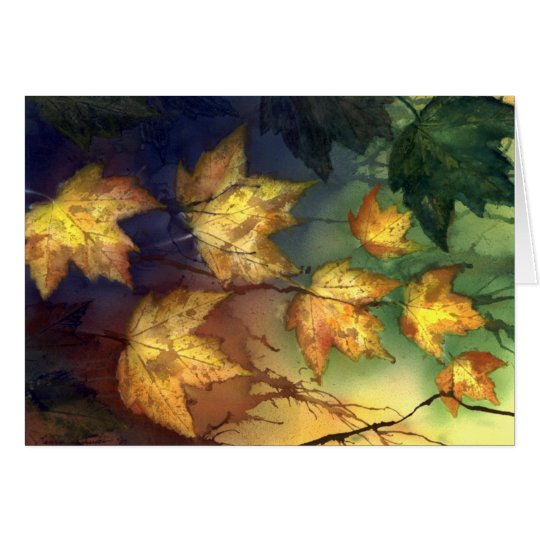 Fall Maple Leaves Card