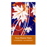 Fall maple leaves in autumn colours business card
