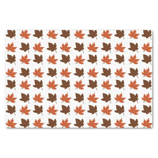 Fall Maple Leaves Tissue Paper