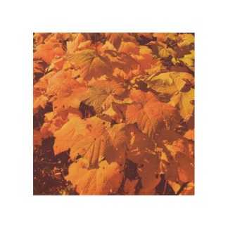Fall maple leaves wood wall decor